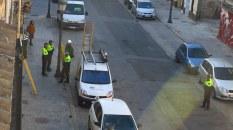 La policia local col·laborant amb Iberdrola en el tall del subministrament elèctric de diversos habitatges en el Cabanyal